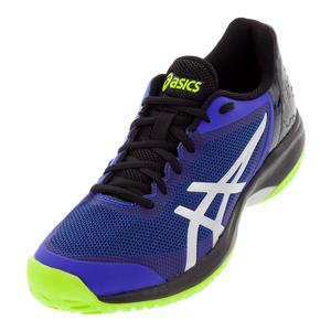 Men`s Gel-Court Speed Tennis Shoes Illusion Blue and Silver