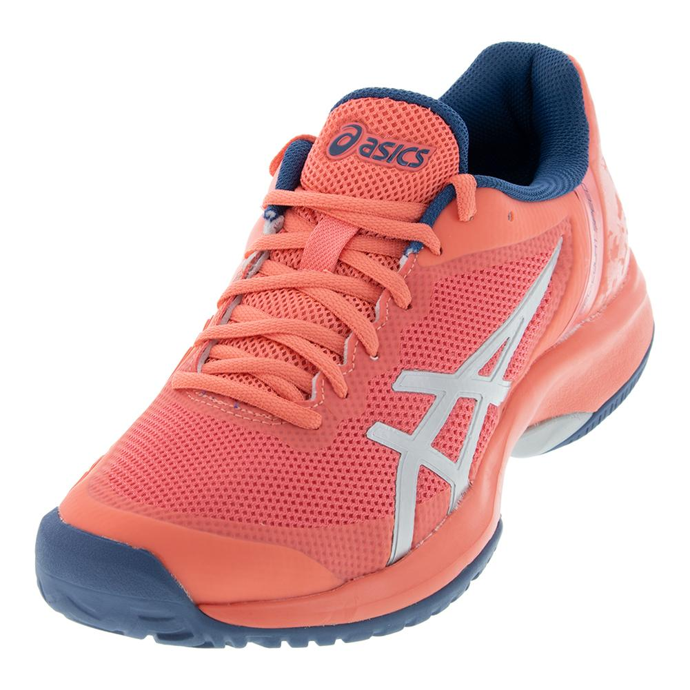 premium selection 71665 8f7d6 Asics Women s Gel-Court Speed Tennis Shoes Papaya and Silver