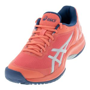 Women`s Gel-Court Speed Tennis Shoes Papaya and Silver