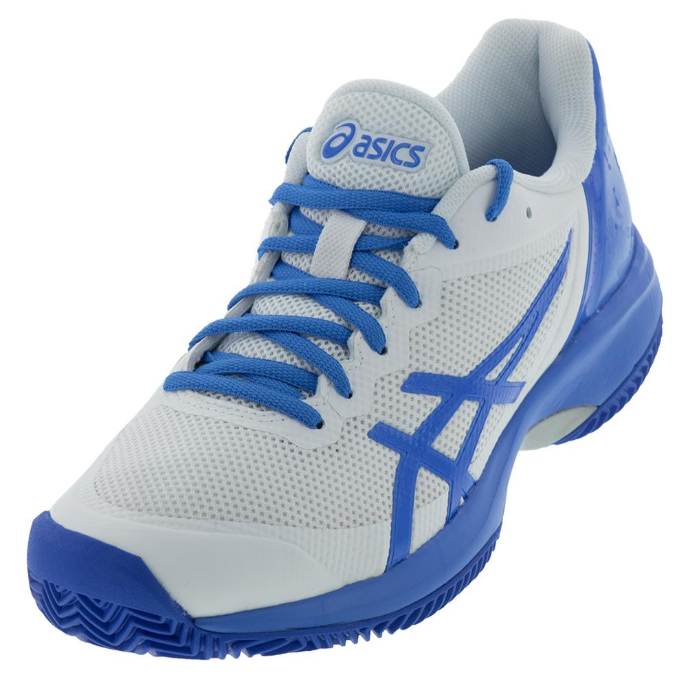 sneakers for cheap fe869 8f8fc Asics Women s Gel-Court Speed Clay Tennis Shoes White and Coastal Blue