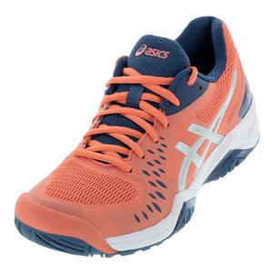 Women`s Gel-Challenger 12 Tennis Shoes Papaya and Grand Shark