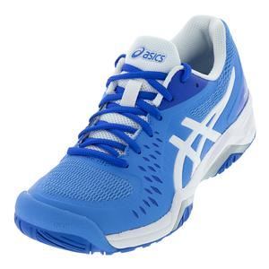 Women`s Gel-Challenger 12 Tennis Shoes Blue Coast and White