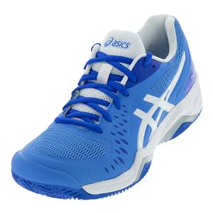 Women`s Gel-Challenger 12 Clay Tennis Shoes Blue Coast and White