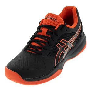 Men`s Gel-Game 7 Tennis Shoes Black and Cherry Tomato