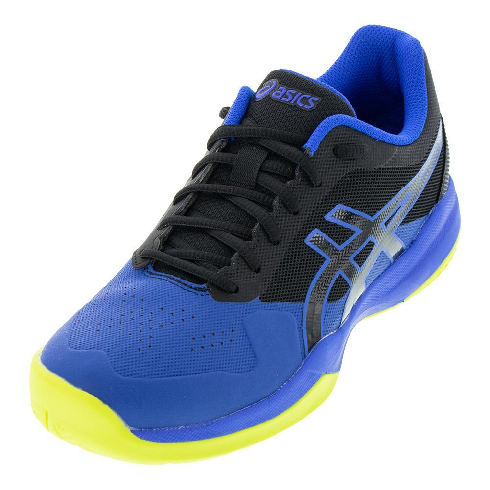 timeless design c0d34 0811a Asics Men s Gel-Game 7 Tennis Shoes Black and Illusion Blue