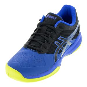 Men`s Gel-Game 7 Tennis Shoes Black and Illusion Blue