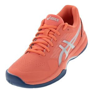 Women`s Gel-Game 7 Tennis Shoes Papaya and Silver