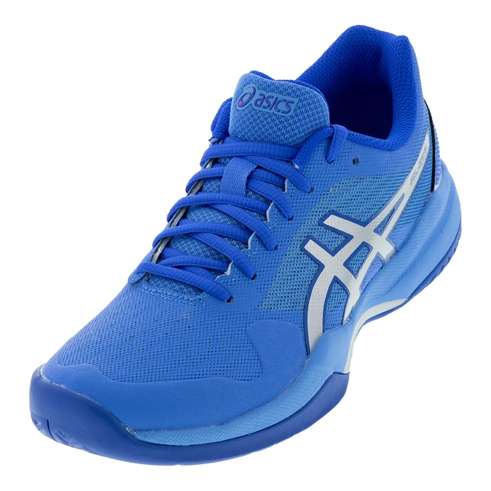 ASICS ASICS Women s Gel- Game 7 Tennis Shoes Blue Coast And Silver ce38794d4