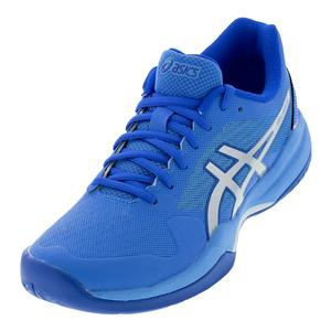 Women`s Gel-Game 7 Tennis Shoes Blue Coast and Silver