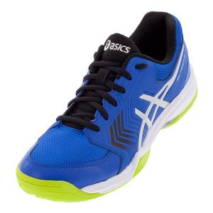 Men`s Gel-Dedicate 5 Tennis Shoes Illusion Blue and Silver