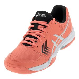 Women`s Gel-Dedicate 5 Tennis Shoes Papaya and Silver