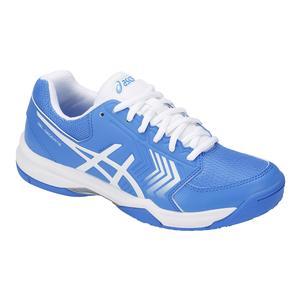 Women`s Gel-Dedicate 5 Tennis Shoes Blue Coast and White