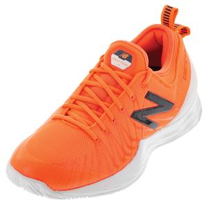Men`s Fresh Foam Lav D Width Tennis Shoes Dark Mango and Cyclone