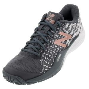 Women`s 996v3 B Width Tennis Shoes Black and Champagne