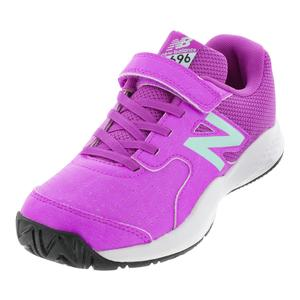 Juniors` 696v3 Tennis Shoes Voltage Violet and Light Reef
