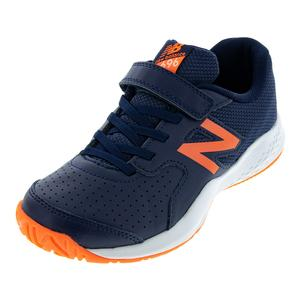 Juniors` 696v3 Tennis Shoes Pigment and Dark Mango