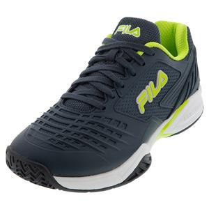 Men`s Axilus 2 Energized Tennis Shoes Ebony and Lime Green