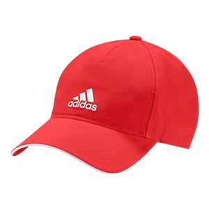 NEW C40 Five Panel Ultimate Climalite Tennis Cap Active Red and White Adidas  ... 88aec5d09be7