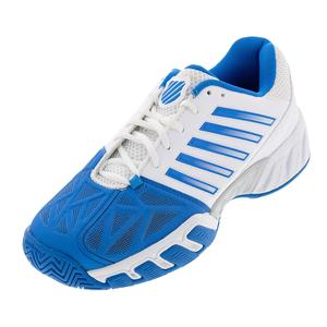 Men`s Bigshot Light 3 Tennis Shoes White and Brilliant Blue