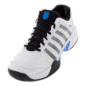 Men`s Hypercourt Express Tennis Shoes White and Brilliant Blue