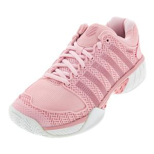 Women`s Hypercourt Express Tennis Shoes Coral Blush and White