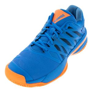 Men`s Ultrashot 2 Tennis Shoes Brilliant Blue and Orange