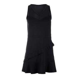 Women`s Ruffle Tennis Dress Black