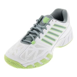 Women`s Bigshot Light 3 Tennis Shoes White and Paradise Green