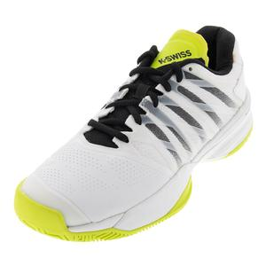 Men`s Ultrashot 2 Tennis Shoes White and Neon Yellow