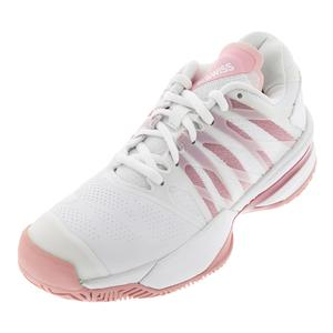 Women`s Ultrashot 2 Tennis Shoes White and Coral Blush