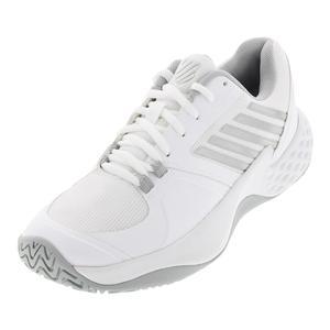 Women`s Aero Court Tennis Shoes White and Silver