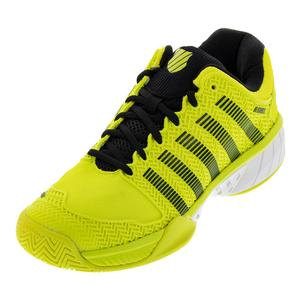 Men`s Hypercourt Express Tennis Shoes Neon Yellow and Black