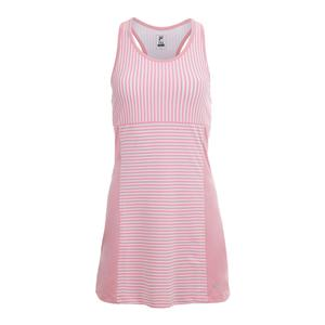 Women`s Stripe Tennis Dress Light Pink and White