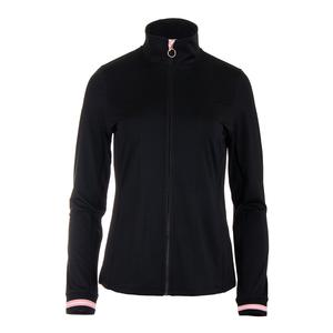 Women`s Stripe Tennis Jacket Black