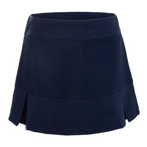 Girls` Pleated Bottom Tennis Skort Navy