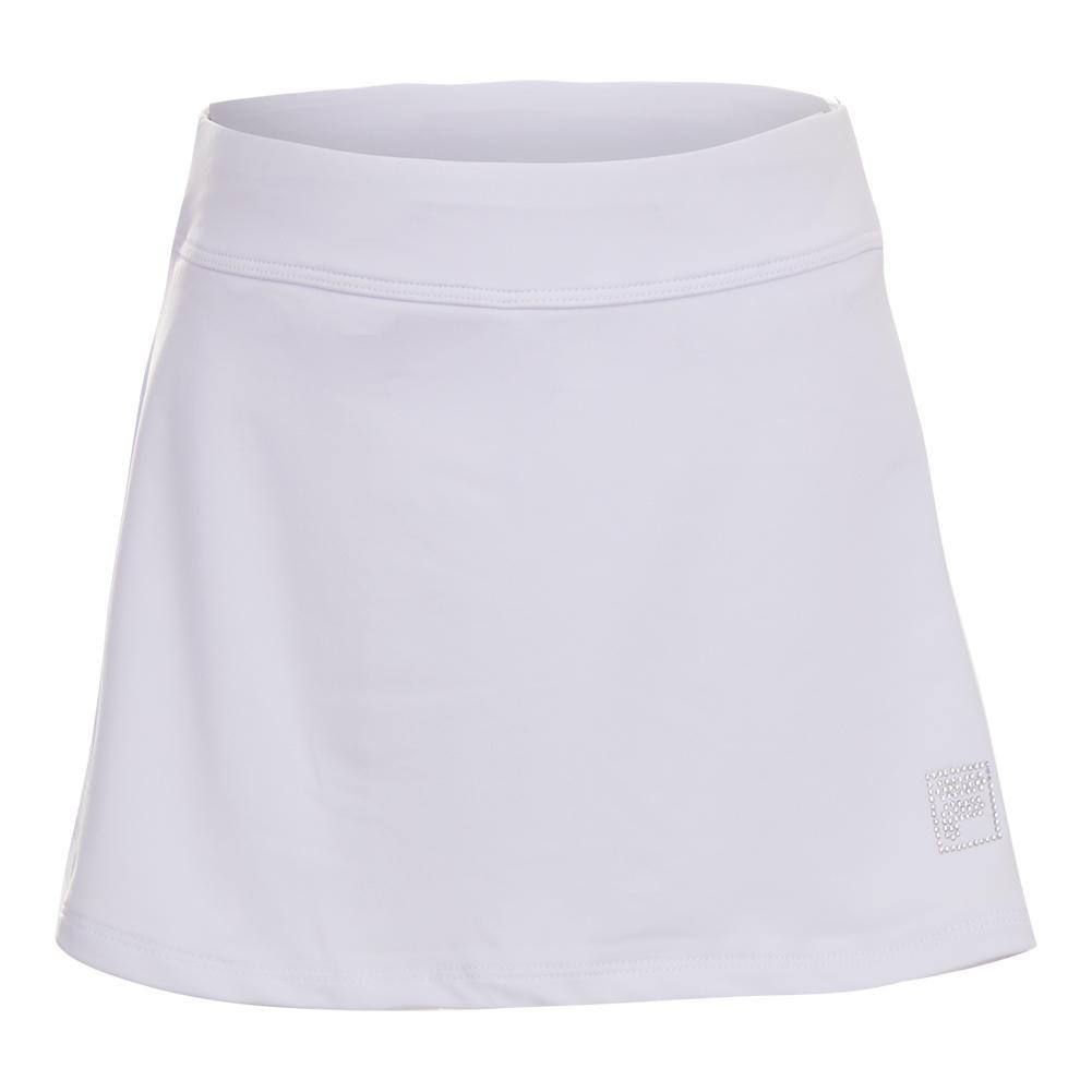 Girls ` Double Ruffle Tennis Skort White