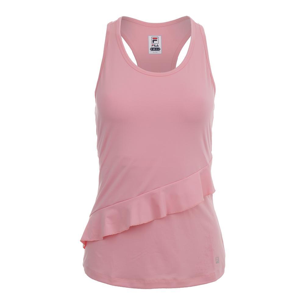 b1cacca249c4cf Fila Women's Ruffle Racerback Tennis Tank Light Pink