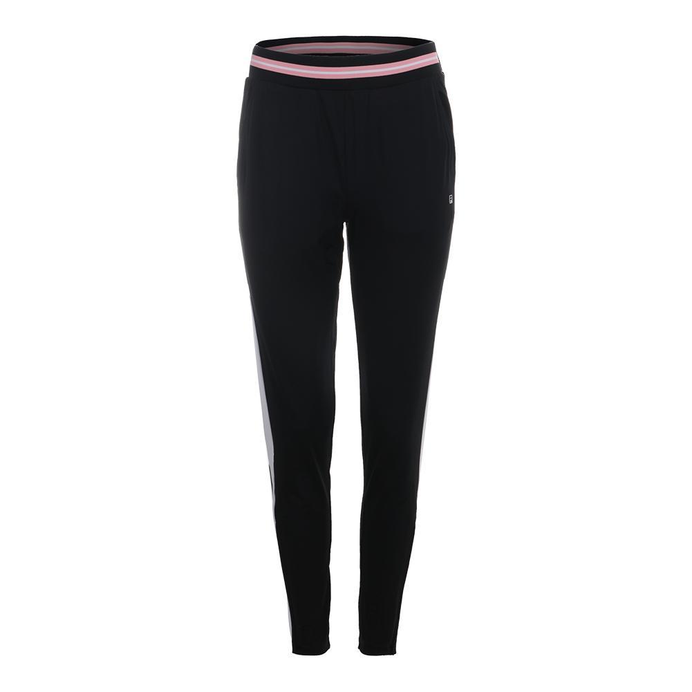 Women's Stripe Tennis Pant Black