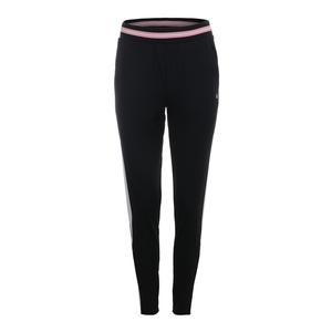 Women`s Stripe Tennis Pant Black