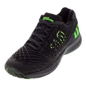 Men`s Kaos 2.0 Tennis Shoes Black and Ebony