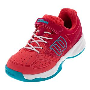 Juniors` Kaos Tennis Shoes Paradise Pink and White