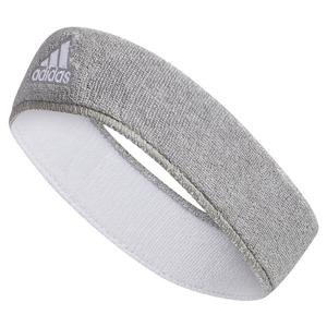 Interval Reversible Headband Heathered Aluminum and White