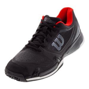 Men`s 2019 Rush Pro 2.5 Tennis Shoes Black and Wilson Red