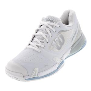Women`s 2019 Rush Pro 2.5 Tennis Shoes White and Pearl Blue