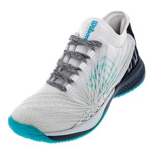 Women`s Kaos 2.0 SFT Tennis Shoes White/Blueberry