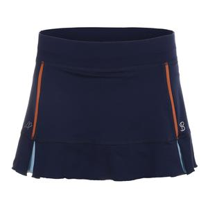 Women`s A Line 13 Inch Tennis Skort Navy Blue