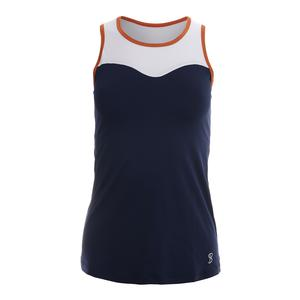 Women`s Racerback Tennis Tank Navy Blue