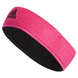 Interval Reversible Headband Shock Pink and Black