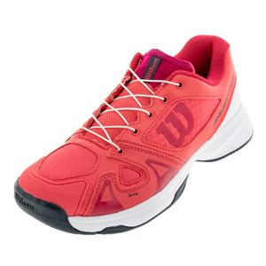Juniors` Rush Pro Quick Lace Tennis Shoes Paradise Pink and White