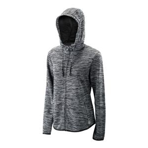 Women`s Tennis Training Hooded Jacket Black